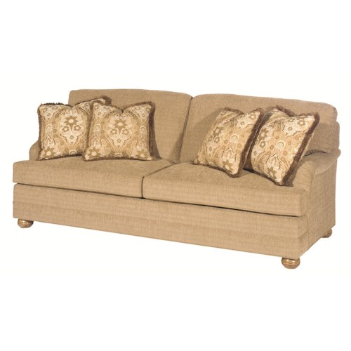 Lexington Personal Design Series Customizable Overland Sofa with English Arm and Bun Feet