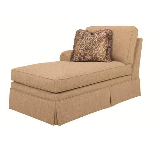 Lexington Personal Design Series Customizable Overland LAF Chaise with Panel Arm and Skirt