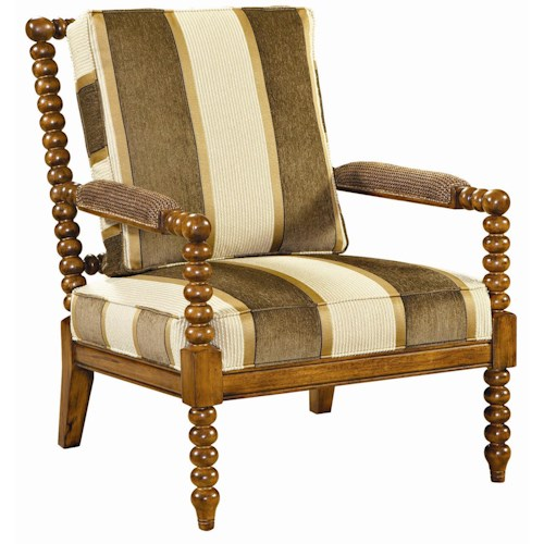 Tommy Bahama Home Kingstown Maarten Chair with Padded Arms
