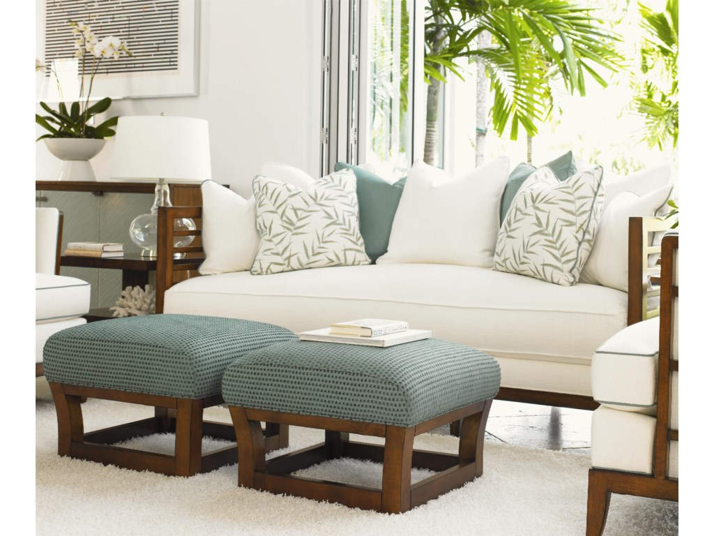Shown with St. Lucia Sofa, Abaco Chairs, and Lagoon Lamp Tables