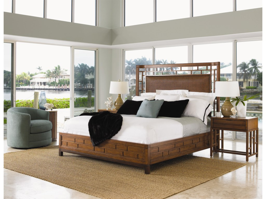 Shown with Kaloa Nightstand and Kava Swivel Chair - Bed Shown May Not Represent Size Indicated