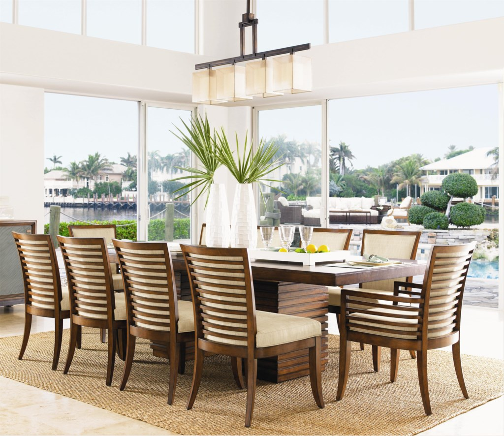 tommy bahama home ocean club 11 piece peninsula dining table