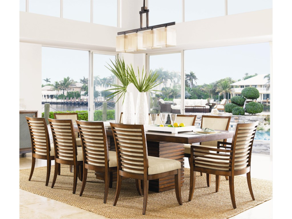 Shown with Kowloon Side Chairs and Peninsula Dining Table with Leaf