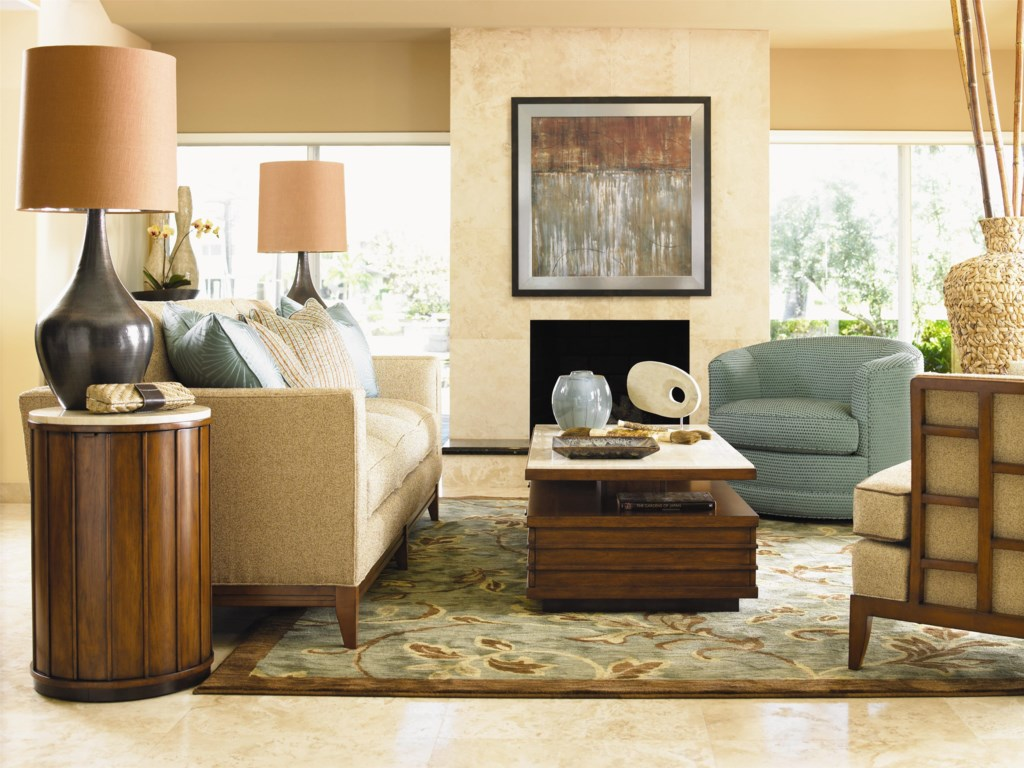 Shown with Ladera Sofa, Kava Swivel Chair, Abaco Chair, and Fiji Drum Table