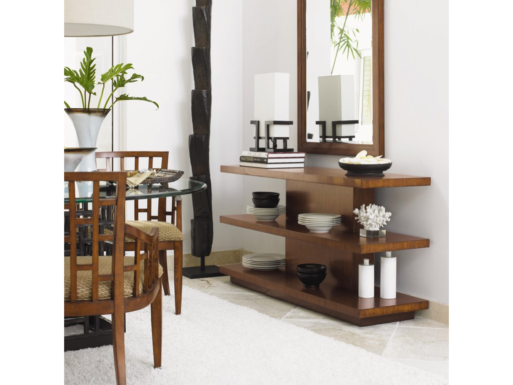 Shown with Somerset Mirror, Lanai Arm Chairs, and South Sea Round Glass Table