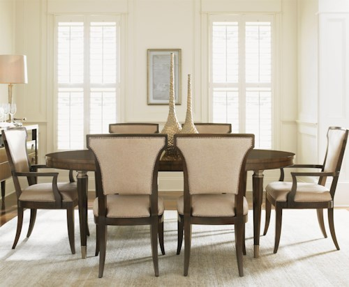 Lexington Tower Place 7 Piece Formal Dining Set With Drake Table And Seneca Quickship Chairs