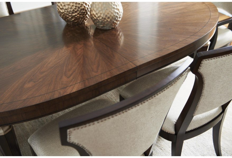 Lexington Tower Place 7 Piece Formal Dining Set With Drake Table And Seneca Married Fabric Chairs Lindy S Furniture Company Dining 7 Or More Piece Sets