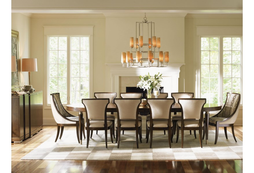 Contemporary Drake Oval Dining Table