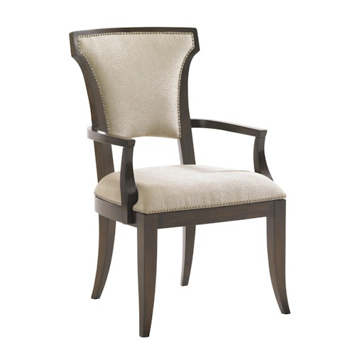 Lexington Tower Place Contemporary Seneca Arm Chair in Kendall Fabric