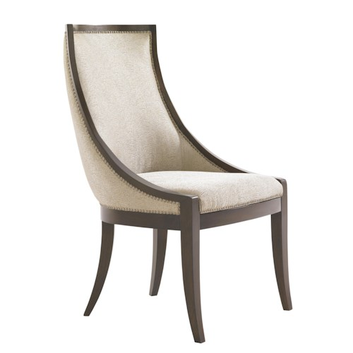 Lexington Tower Place Contemproary Talbot Quickship Host Chair in Kendall Fabric
