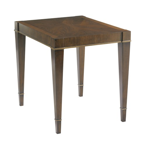 Lexington Tower Place Contemporary Inverness End Table with Gold Tipping