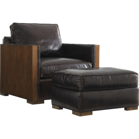 Edgemere Chair and Ottoman