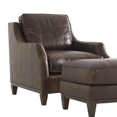 Lexington Tower Place Contemporary Conrad Chair with Exposed wood Base