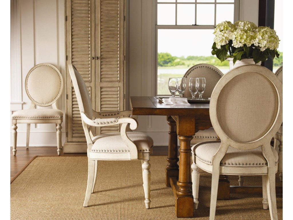 Shown with Byerly Side Chairs and Hartley Cabinet, and Ashton Dining Table in Chestnut Finish