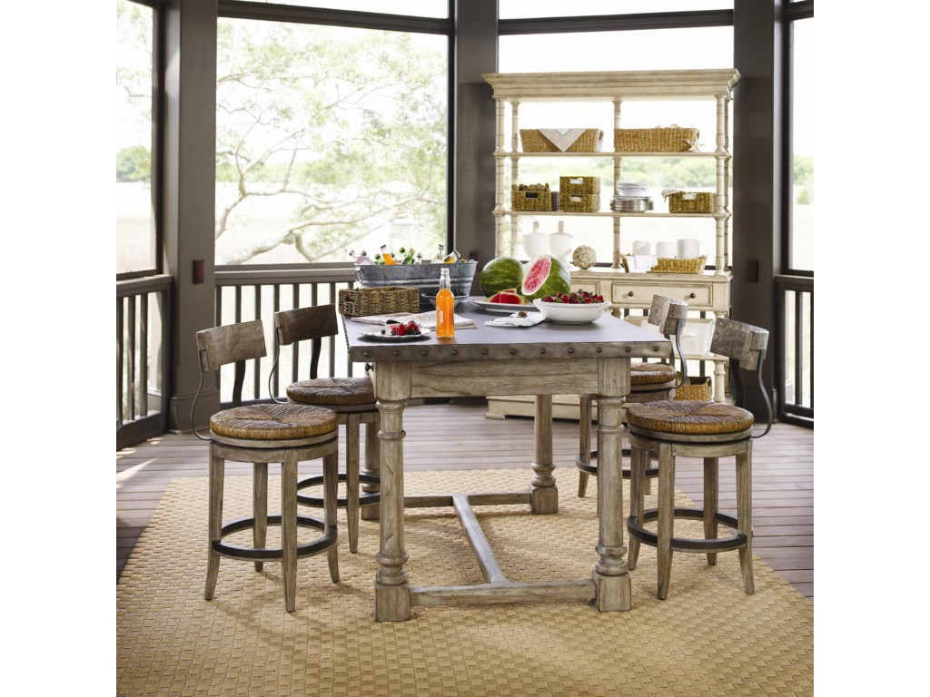 Shown with Dalton Counter Stools and Shelter Island Bistro Table