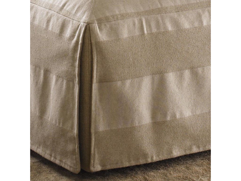 Slipcover Tailoring Speaks to the French Laundry Influence on the Jasmine Ottoman