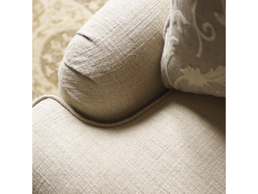 Low Profile Pleated Arms Add Comfort and Style to the Carley Sofa