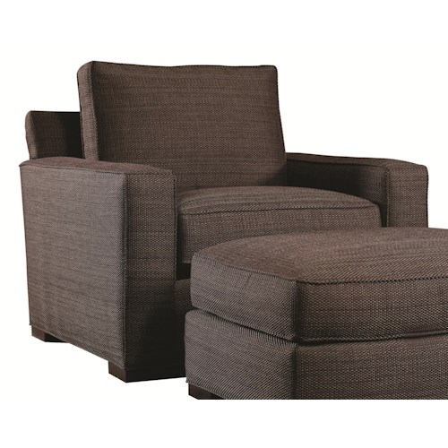 Lexington Urban Spaces - Bond Contemporary Upholstered Chair with Block Wood Feet