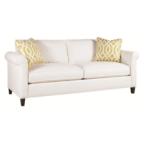 Lexington Urban Spaces - Conran Transitional Stationary Sofa with Sock Arm and Wood Leg
