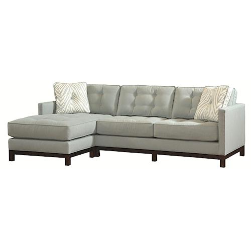 Lexington Urban Spaces - Fleetwood Transitional Bi-Sectional Sofa with Detached Ottoman