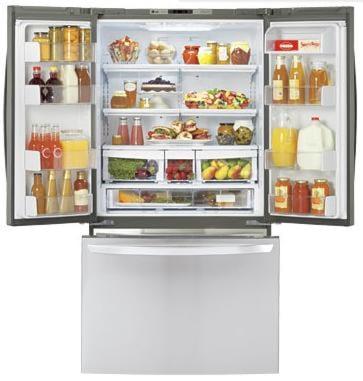 3-Door French Door Cabinet Depth Refrigerator with Ice Plus™