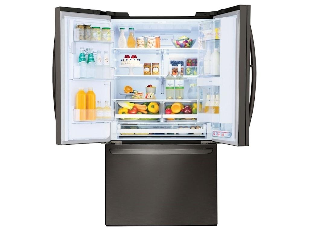 LG Appliances French Door Refrigerators28 cu.ft. Wi-Fi Enabled Door-in-Door Fridge