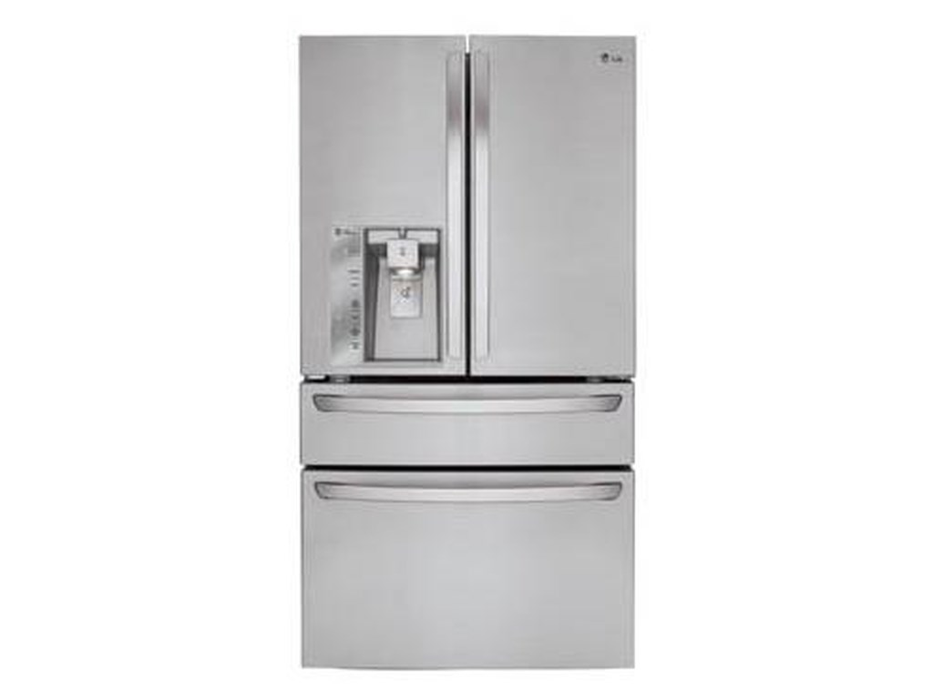 Lg Appliances 23 Cu Ft Large Capacity Counter Depth 4 Door French
