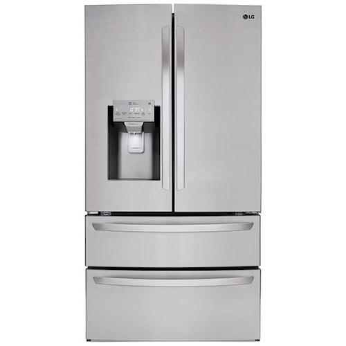 Lg Appliances 28 Cu Ft Capacity 4 Door French Door Refrigerator