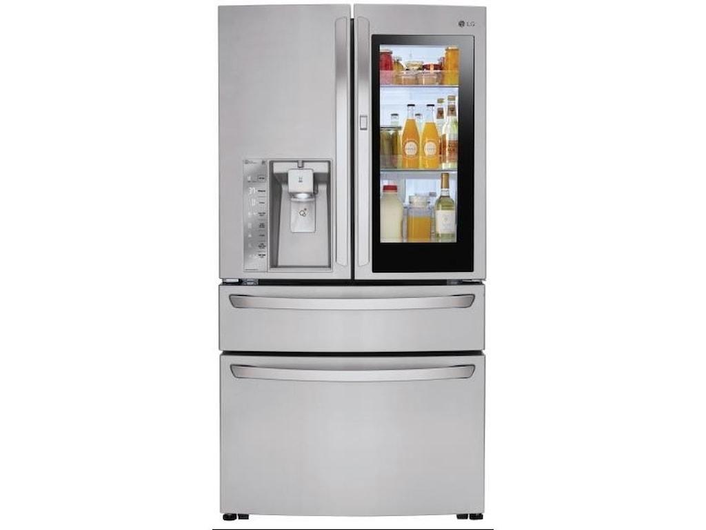 Lg Appliances 30 Cu Ft Instaview Door In Door Refrigerator