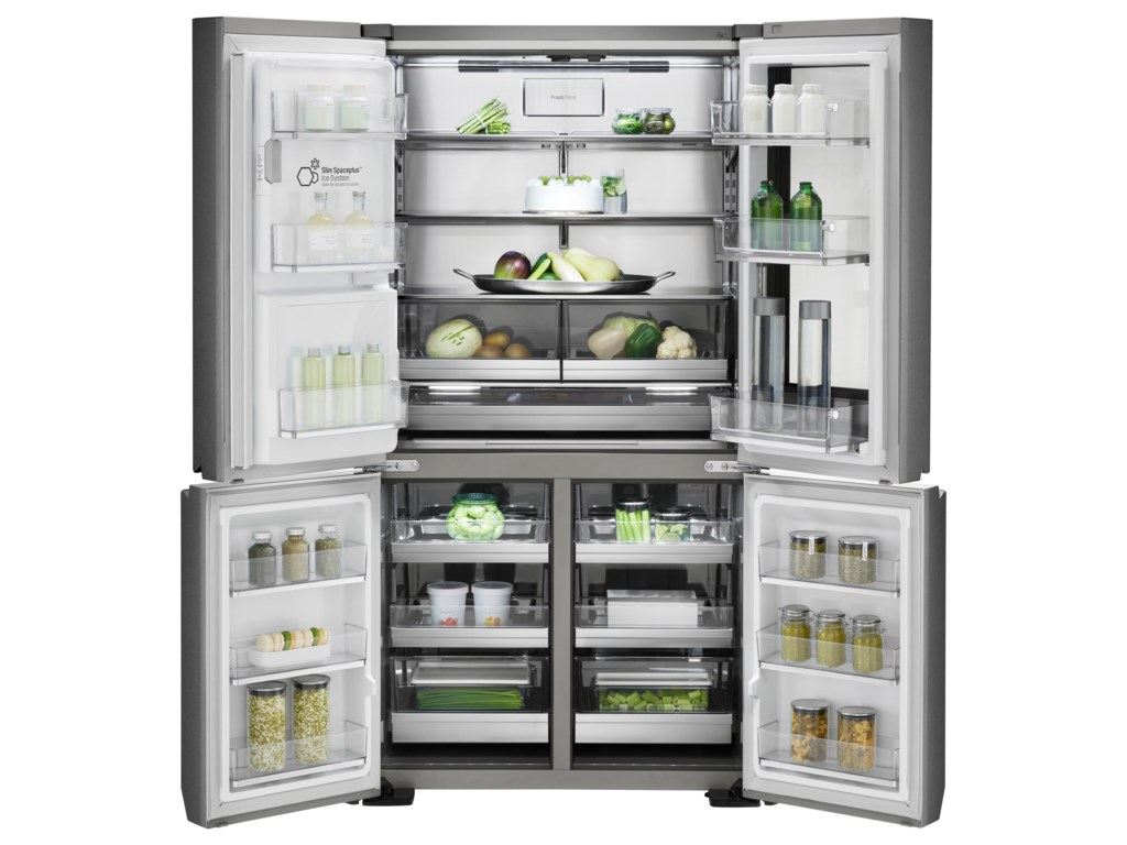 French Door lg 30 french door refrigerator pictures : LG Appliances LUPXS3186NLG Signature 31 Cu. Ft. InstaView™ Door-in ...