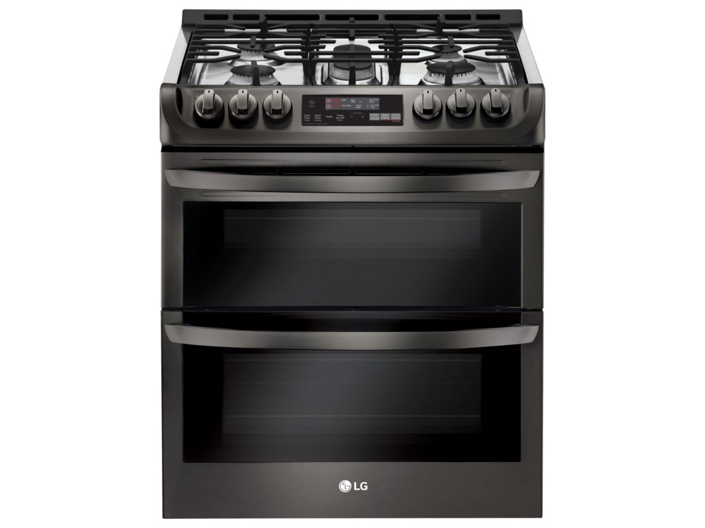 Ft Wi Fi Enabled Gas Double Oven Slide In Range With Probake Convection And Easyclean By Lg Liances