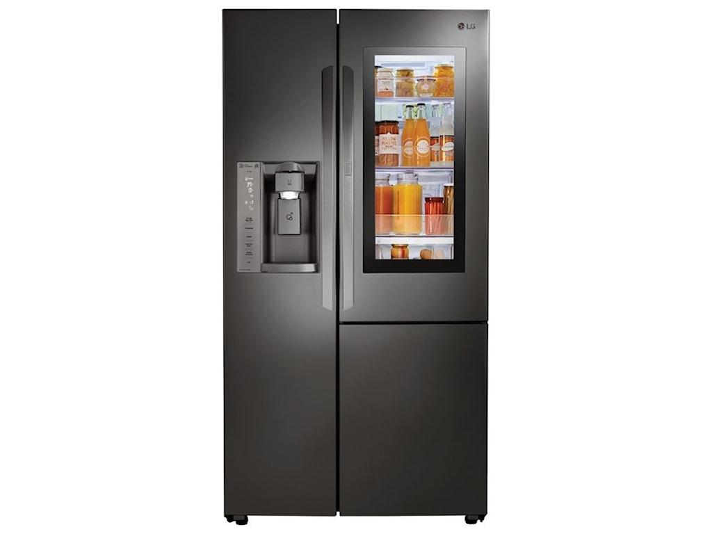 Lg Appliances Lsxc22396d22 Cuft Instaview Door In Door Side By