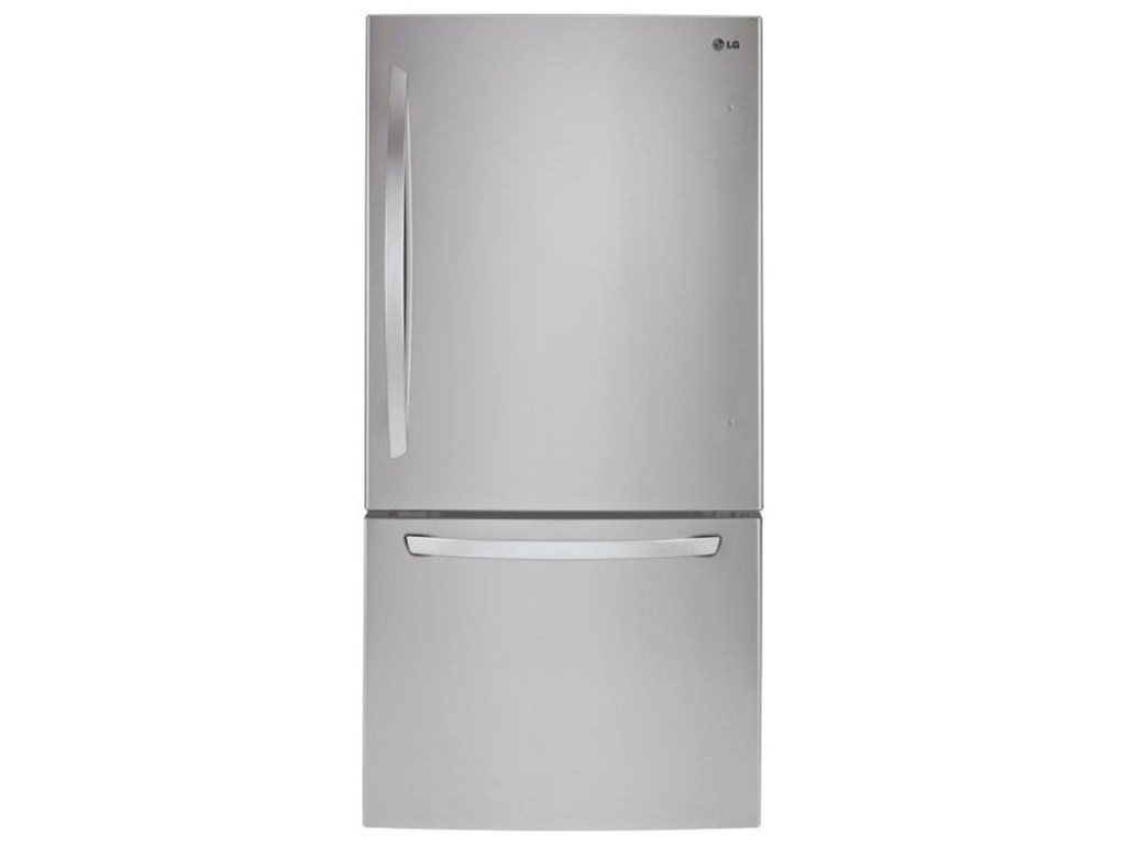 """Top-Freezer Refrigerator 24 Cu  Ft Large Capacity 33"""" Wide Top Freezer  Refrigerator by LG Appliances at Furniture and ApplianceMart"""