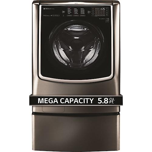 LG Appliances Washers LG SIGNATURE: 5.8 cu. ft. Mega Capacity Washer