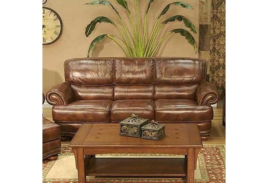 LG Interiors Cowboy Transitional Warm Brown Leather Sofa ...