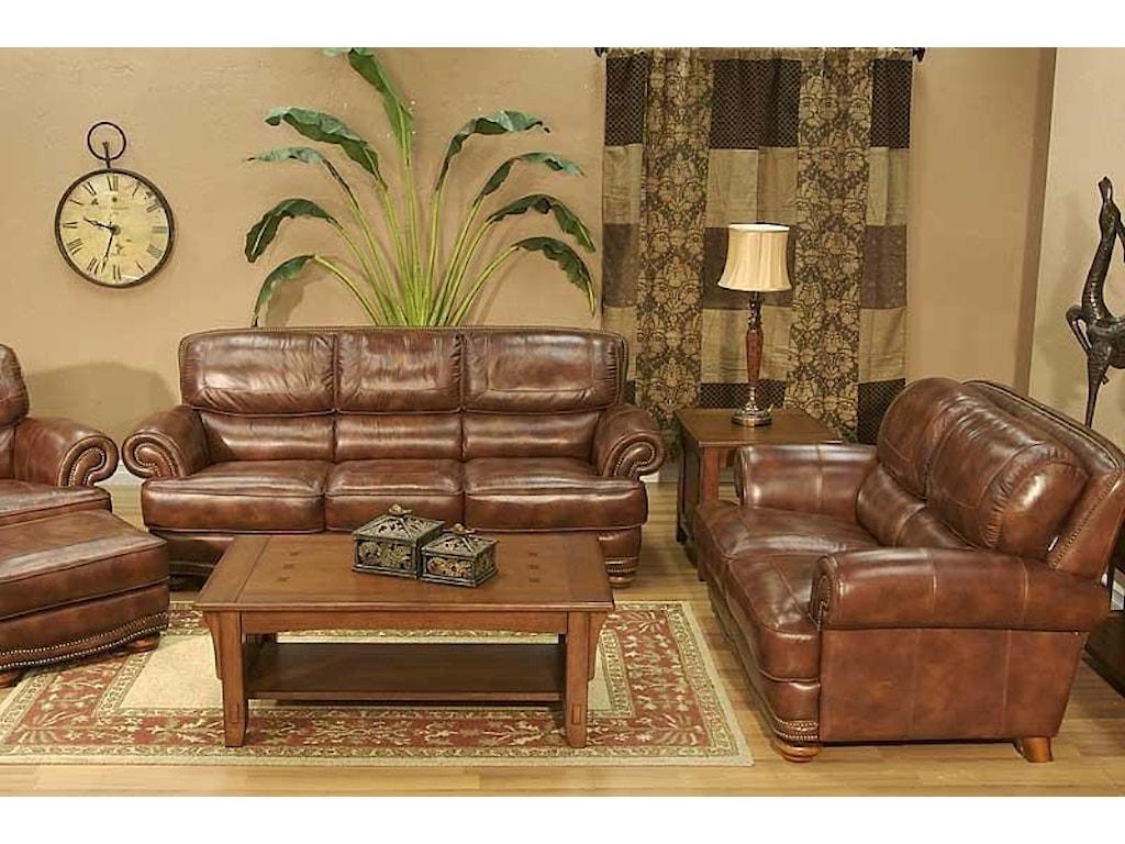 LG Interiors Cowboy4 Piece Leather Sofa Group