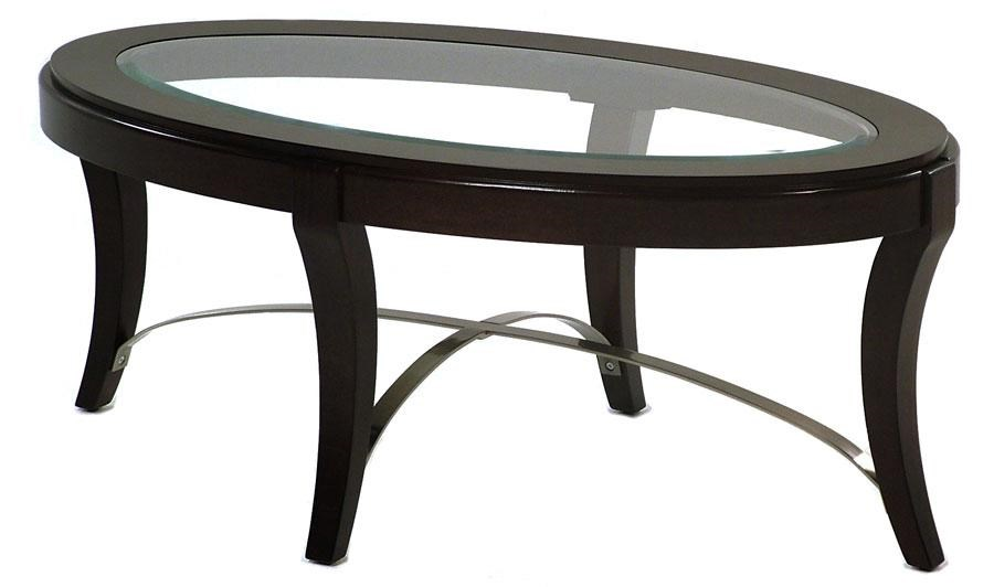 avalon glass top oval cocktail table - rotmans - cocktail/coffee