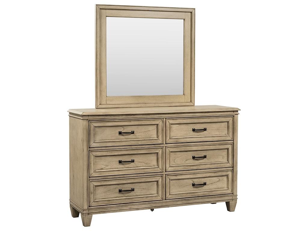 Liberty Furniture 573Dresser & Mirror