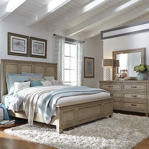 Liberty Furniture 573 King Bedroom Group