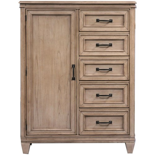 Liberty Furniture 573 Transitional Door Chest with 5 Drawers