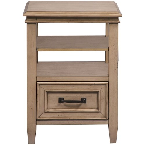 Liberty Furniture 573 Transitional Open Night Stand with Bottom Drawer
