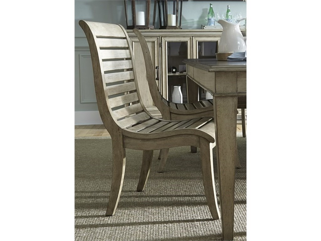 Vendor 5349 573Slat Back Side Chair