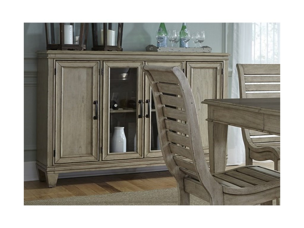 Liberty Furniture 573Buffet with Glass Doors