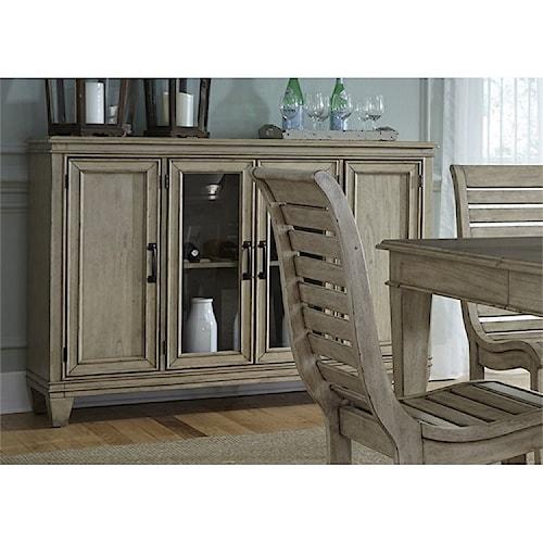 Liberty Furniture 573 Buffet With Gl Doors