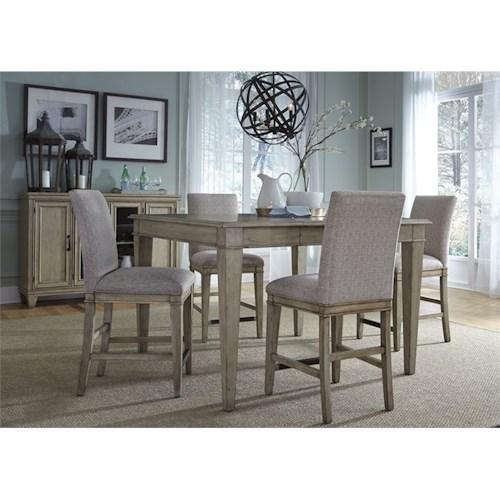 Liberty Furniture 573 5 Piece Gathering Table Set