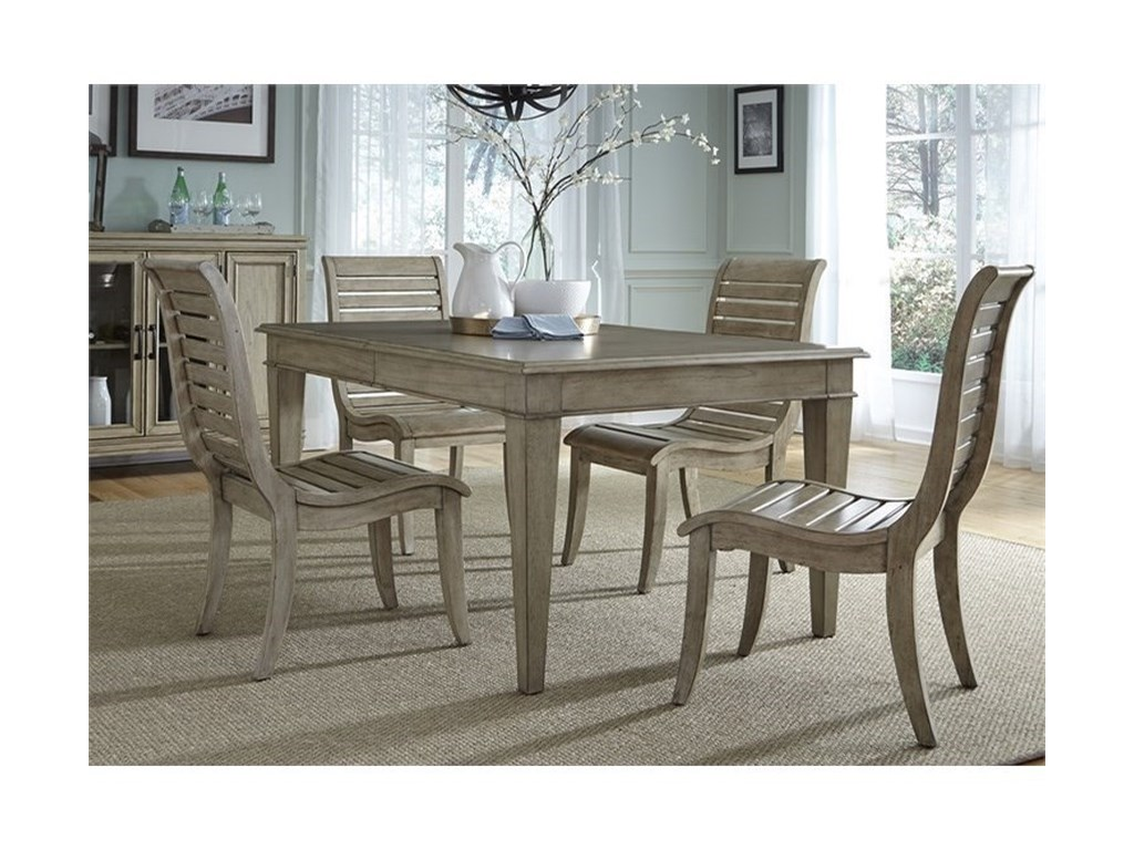 Liberty Furniture 5735 Piece Leg Table Set