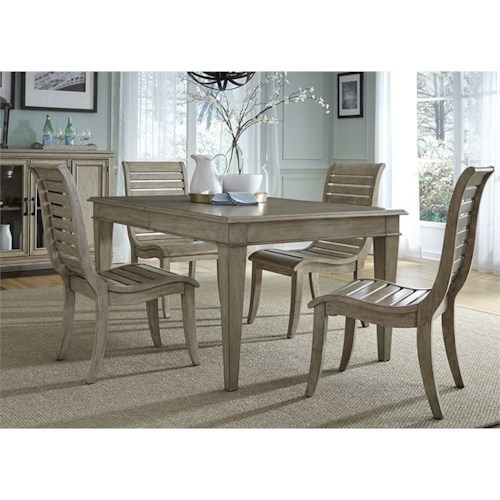 Liberty Furniture 573 5 Piece Leg Table Set