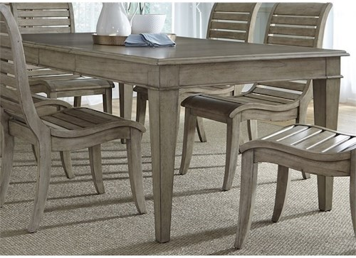 Liberty Furniture 573 Rectangular Leg Table with Leaf