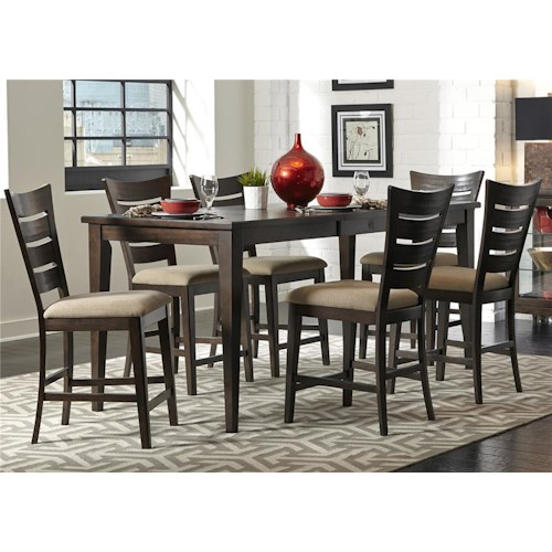 Liberty Furniture Pebble Creek 7 Piece Gathering Table Set