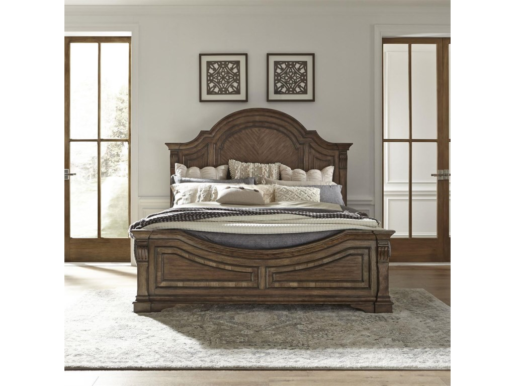 Liberty Furniture Haven HallQueen Panel Bed w/Rails
